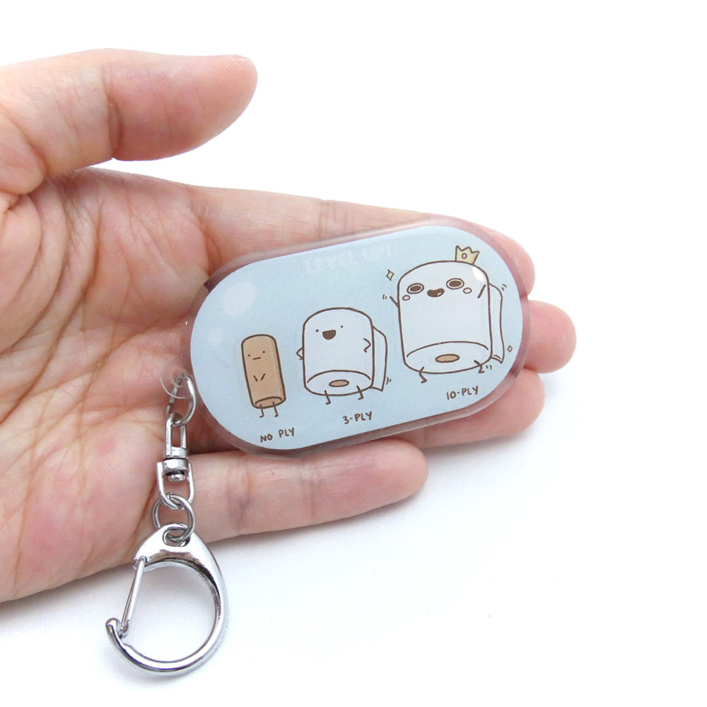 Food Evolution Toilet Paper Acrylic Keychain