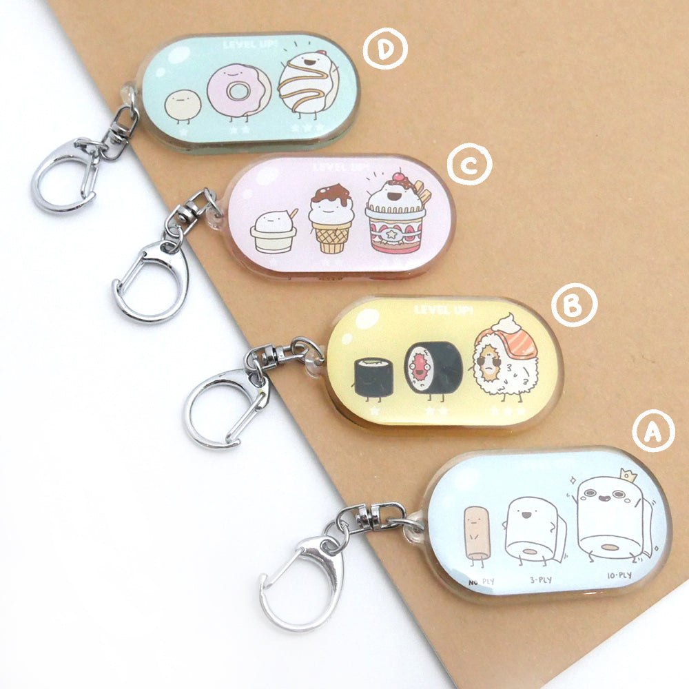 Food Evolution Donut Acrylic Keychain