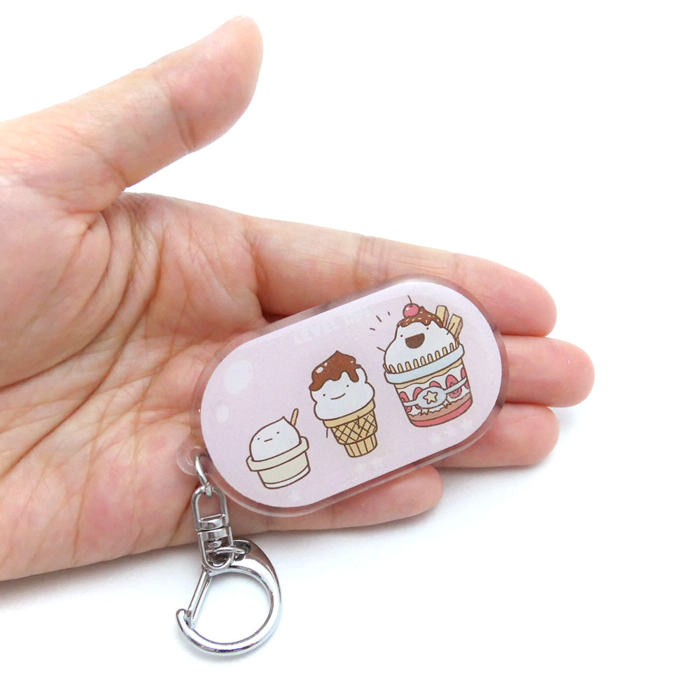 Food Evolution Ice Cream Acrylic Keychain