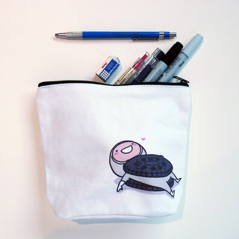Oreo accessory canvas pouch stationery