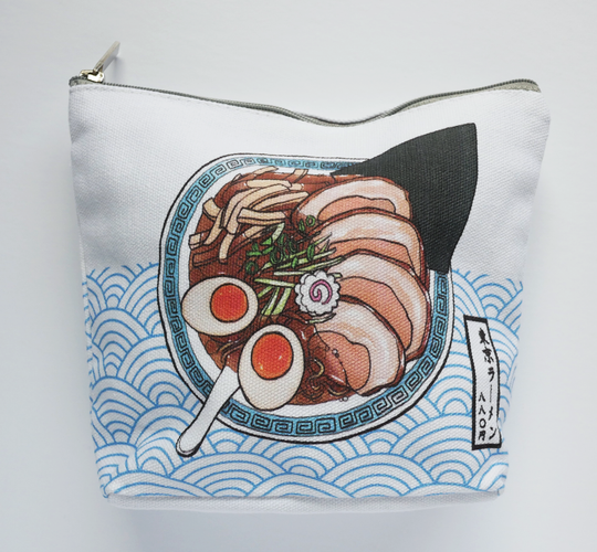 Tokyo ramen accessory canvas pouch front