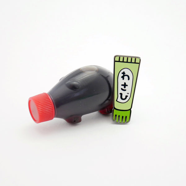 Extra Spicy Wasabi Tube Enamel Pin