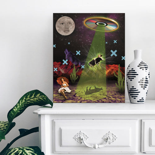Big Disc Energy (At Night) - Canvas Print