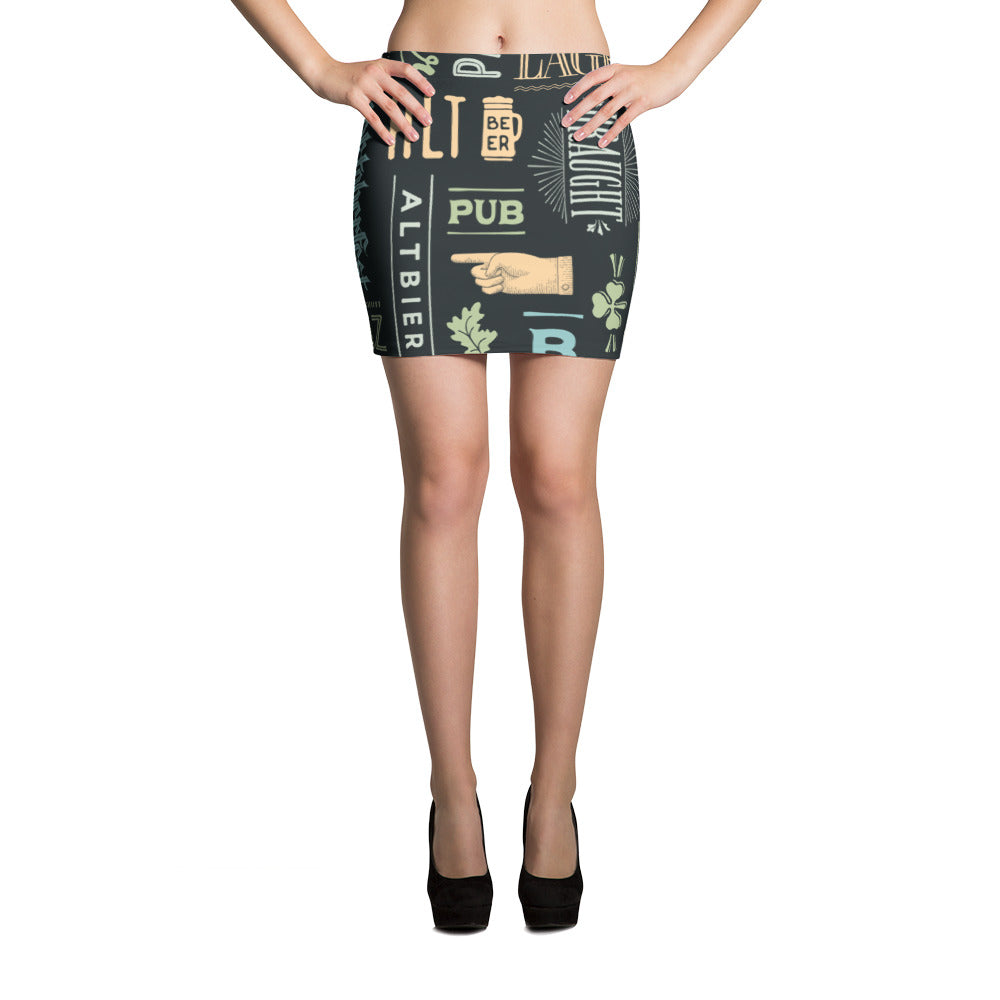 Alt Beer Mini Skirt