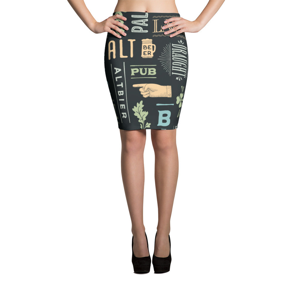 Alt Beer Pencil Skirt