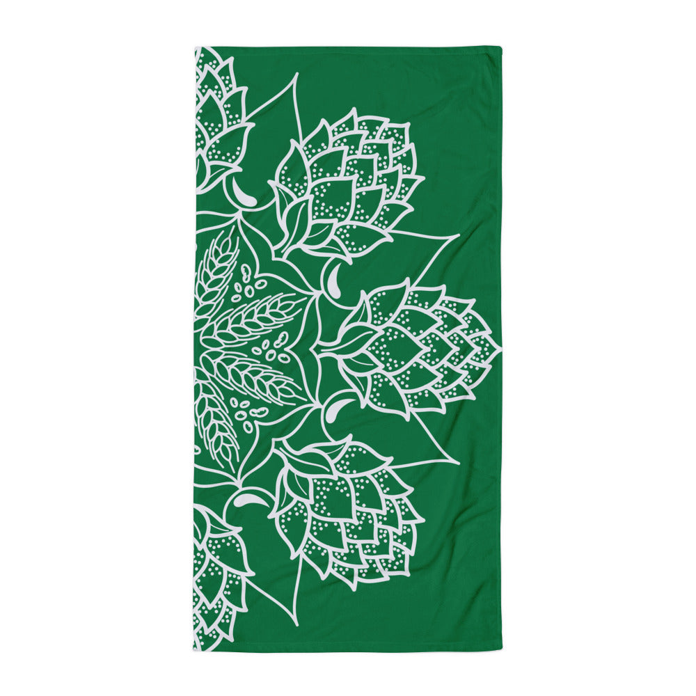 Green Mandala Towel