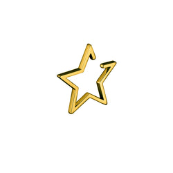 Star ear cuff / gold plated silver