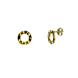 Scramble studs small / gold plated silver