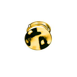 Galio ring large / gold plated silver