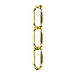Chain 3 mono earring / gold plated silver