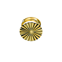 Tessen ring / gold plated silver