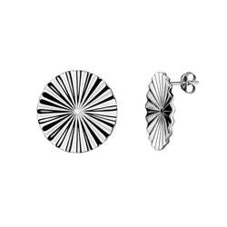 Tessen earrings spheric / silver