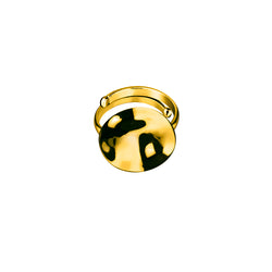 Galio ring small / gold plated silver