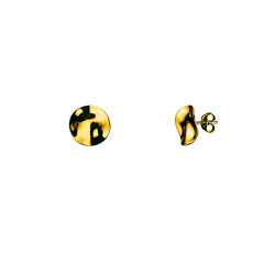 Galio studs small / gold plated silver
