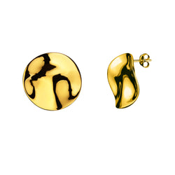 Galio earrings large / gold plated silver
