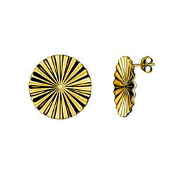 Tessen earrings spheric / gold plated silver