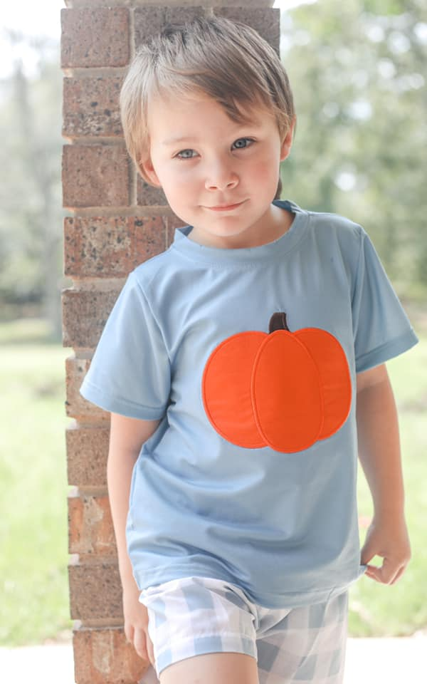 boys pumpkin short set