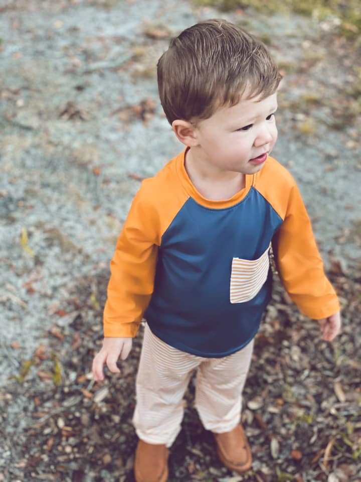 boys knit mustard and grey pant set
