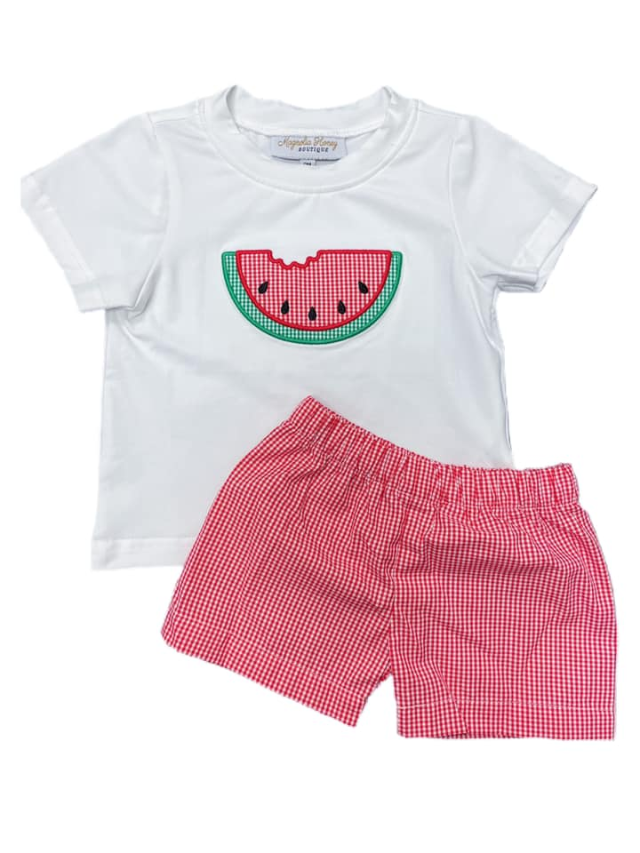 Boys Watermelon Short Set