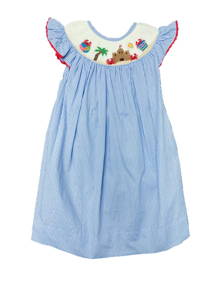 Girls Smocked Beach Dress