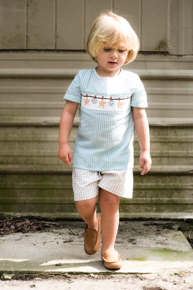 Boys Seashell Short Set