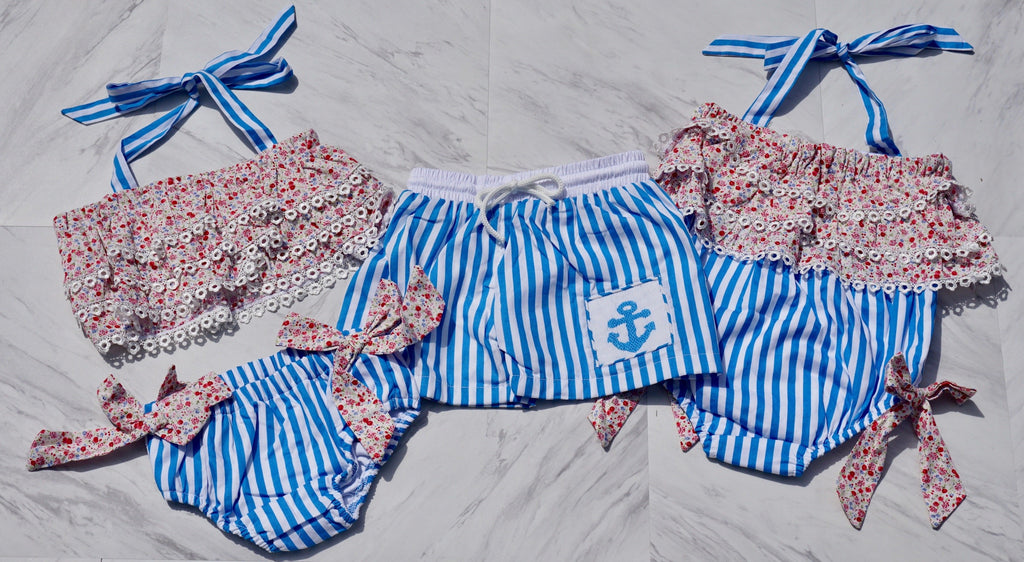 boys anchor smocked swimsuit