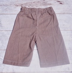 Brown Gingham Pants Only