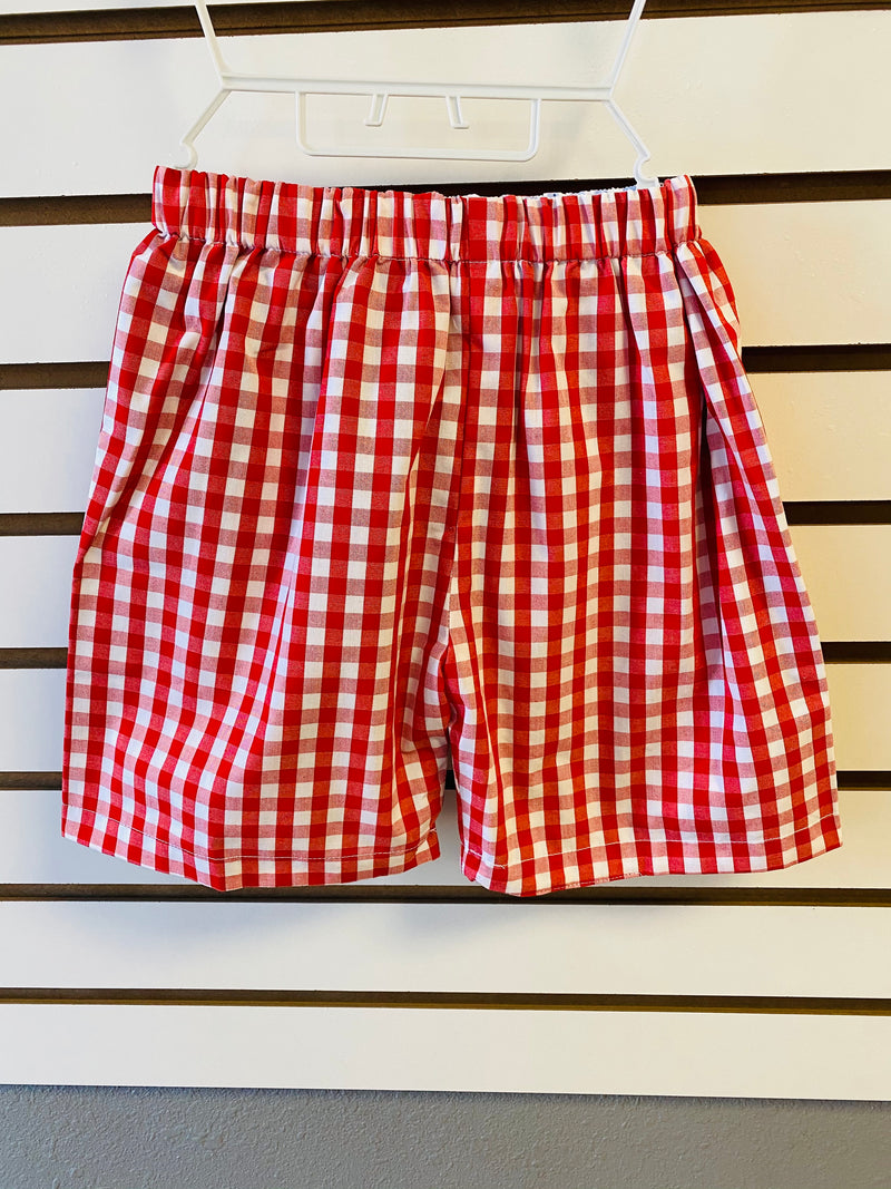Red and Blue Reversible  Shorts