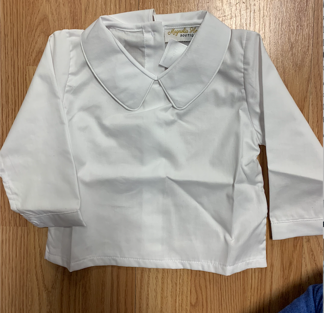 Boys White Collard Undershirt