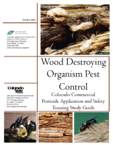 Category 301: Wood Destroying Organism Pest Control (2015) CO