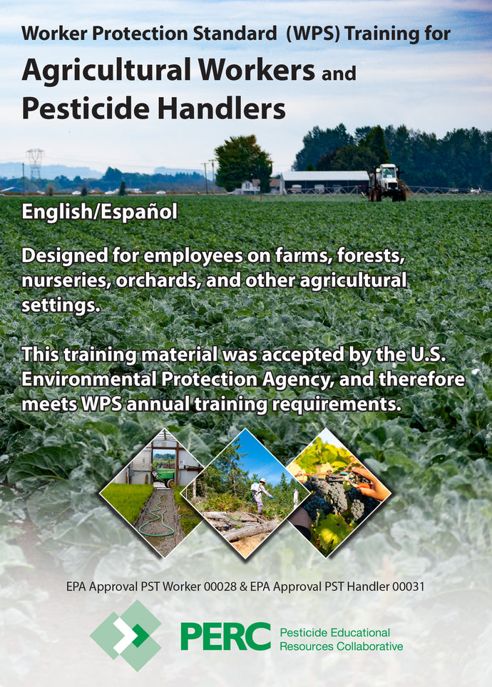 DVD--WPS Training DVD for Agricultural Workers and Pesticide Handlers--English or Spanish