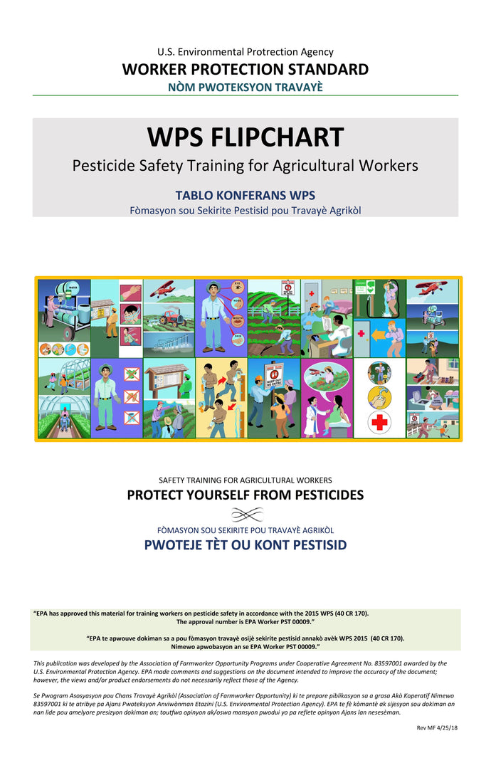 WPS Flipchart: Safety Training for Agricultural Workers--Bilingual Haitian Creole/English