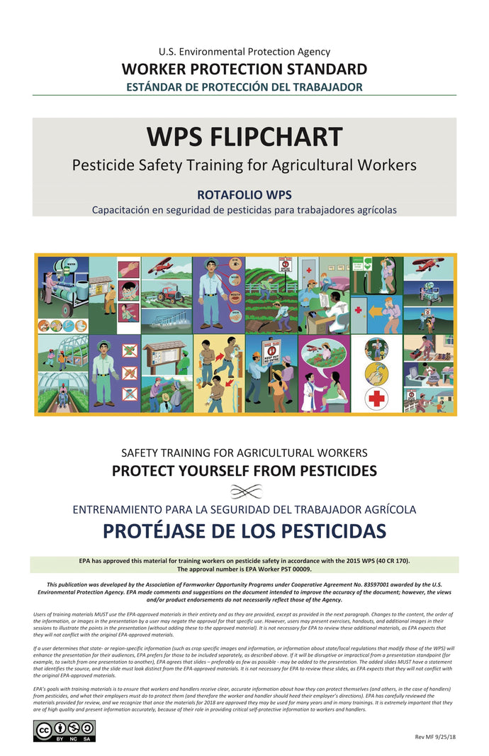 WPS Flipchart: Safety Training for Agricultural Workers--Bilingual Spanish/English