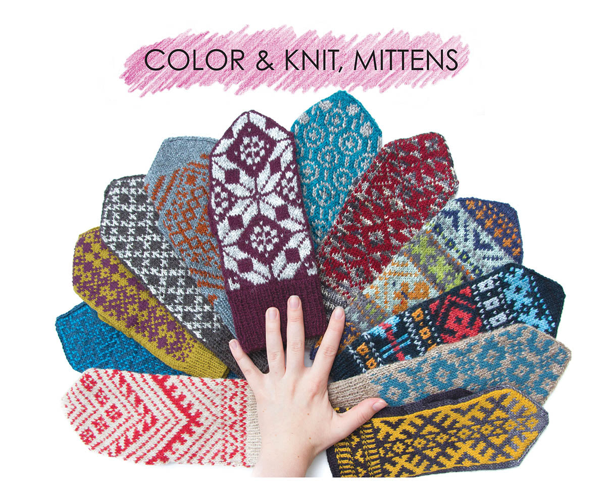Color & Knit Mittens by Aleks Byrd