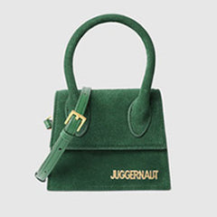 Tahlia Green Mini Suede bags | The Pom Pommery | Bags