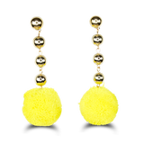Gold Sphere Ball Drops Yellow Pom Pom