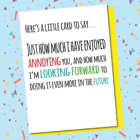 A Little Card...
