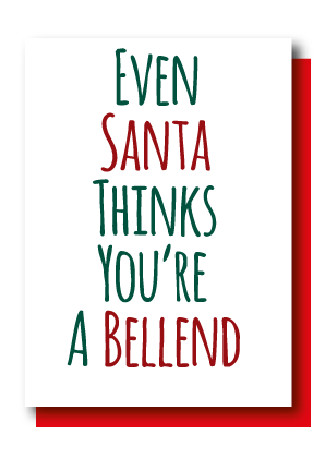 Pack Of 5 Cards, Santa Bellend