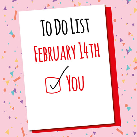 Valentines To Do List