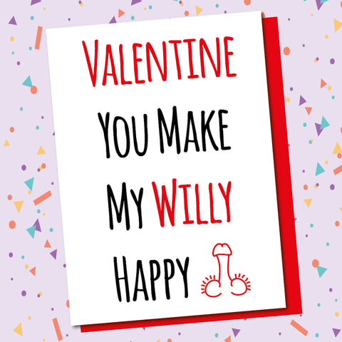 Valentine Happy Willy