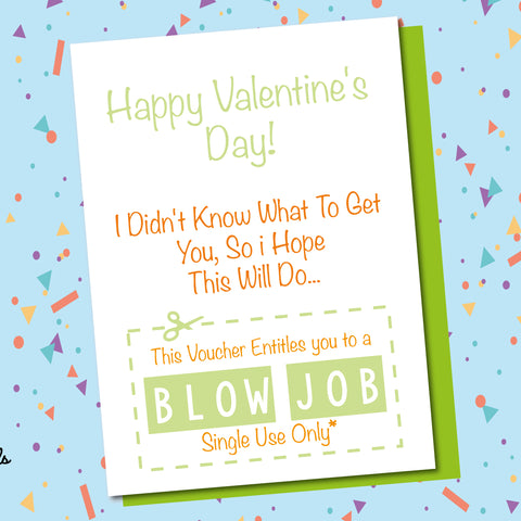 Blow Job Voucher