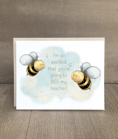 Bee Card for Teachers