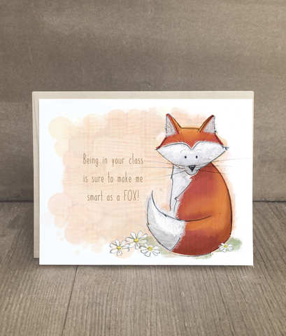 Fox Card for Teachers