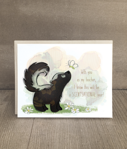 Skunk Card for Teachers