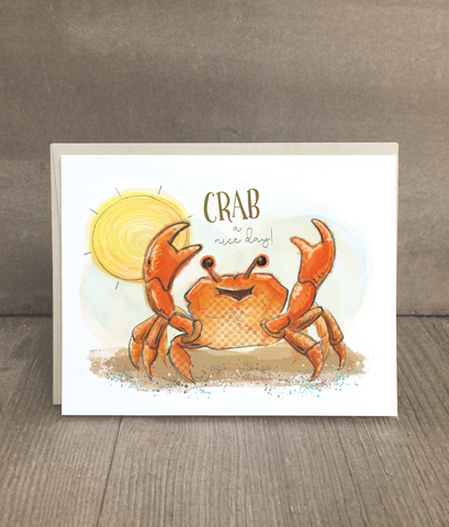 Crab a Nice Day Card