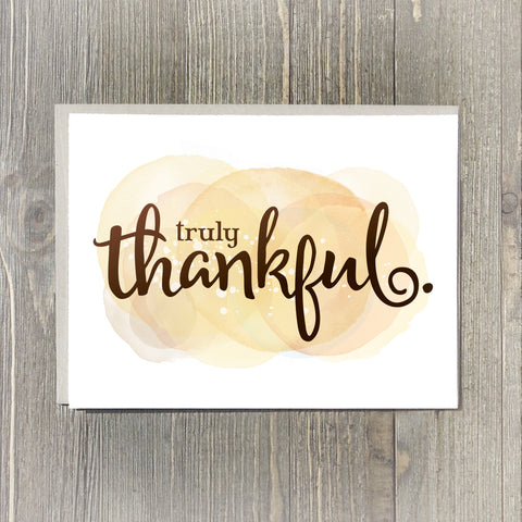 Truly Thankful Card Set, 10pk