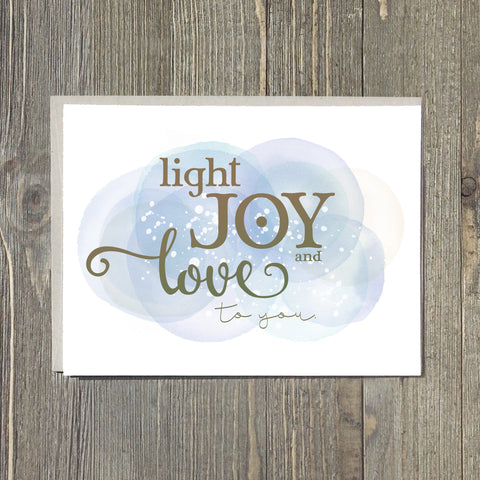 Light, Joy and Love to You Notecards