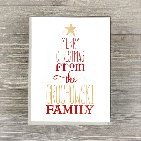Personalized Merry Christmas Cards