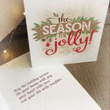 Tis the Season to be Jolly Cards, Print and Tags