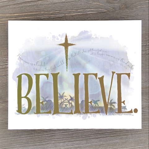 Believe Cards and Print